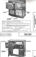 2 Radio Service Photofact s: FARNSWORTH GK-111 112 114 115 & CROSLEY 9-204 205M