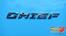 2017 Jeep Wrangler Chief Chrome Emblem Nameplate Decal Sticker Mopar OEM
