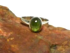 Green  TOURMALINE  Sterling  Silver  925  Gemstone  RING  -   Size  R