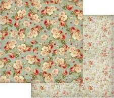 Floral//Graph 12x12 Petite Prints Doodlebug Bubble Blue 2pc Scrapbook Paper