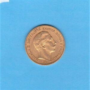 """Kaiserreich: 20 Mark Preussen 1889 A """" Wilhelm II """" Jäger 252 Gold"""