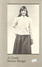 "Lara Cardigan Knitting Instruction Pattern Peggy Straker #881 Women's 32""-40"""