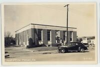 RPPC Post Office Old Car in PELHAM GA Vintage Georgia Real Photo Postcard