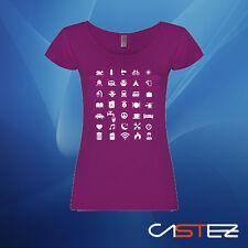 Camiseta mujer iconos viajero viaje iconspeak travel icon regalo ENVIO 24/48h