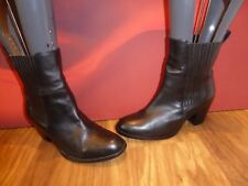 *32* H&M BLACK LEATHER CHELSEA STYLE   ANKLE  BOOTS  UK 7 EU 40