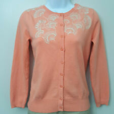 Anthropologie Sparrow Womens S Cardigan Sweater Button Down Embroidered Shimmer