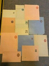 A75 - Lot Of 12 Different South America Stamped Stationary Wrappers, Unused