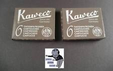 # Kaweco CARTUCCE 2 PACCHETTI INCHIOSTRO SEPPIA/caramello-marrone NUOVO#
