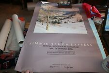 1986 Jimmie Heuga Express Skiing Skier TWO MILLION VERTICAL CHALLENGE Poster