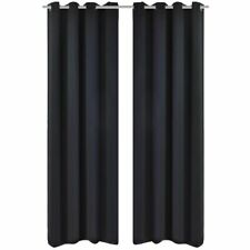 Pair of Blackout Curtains with Eyelet Room Darkening Blockout Window Curtain