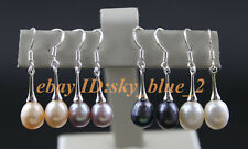 Exquisite  Small horn  Real  cultured  Pearls Dangle drop  Earrings