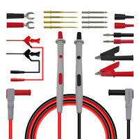 20A plaqué or multimètre test plomb sonde fil stylo ensemble de câble kit