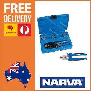 Narva Professional Ratchet Crimper Kit with 4 Heads + Narva Cable Cutter