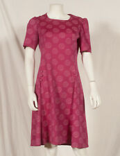 60'S FRENCH VINTAGE FLOWER PRINT PARTY DRESS UK 10 small 12