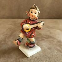 Happiness Hummel Goebel Figurine girl 86 playing instrument vintage