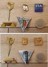 Lot de 5 badge broche épingle pin armoiries FNC UIA MAN enamel email Moscou 58