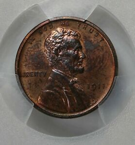 1911 .01 PCGS PR63RB Lincoln Head Cent, Lincoln One Cent