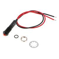 Car Truck Marine 8mm Red LED Dash Panel Warning Lamp Indicator Light 24VDC