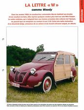 Citroën 2 CV Woody Ebénisterie Frêne Chassis Acadiane UK Car Auto FICHE FRANCE