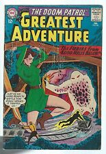 My Greatest Adventure 85 LAST Feb 1964 12c DOOM PATROL Bob Brown Alex Toth F-