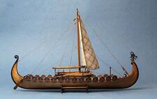 Drakkar Dragon Viking Sailboat Unassembled Wooden Model Boat Ship kit 1/50 scale