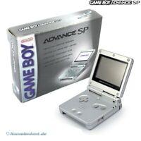 Nintendo GameBoy Advance - Konsole GBA SP #silber + Stromkabel US mit OVP