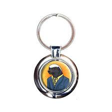 Portrait of a Honey Badger Keychain Key Ring