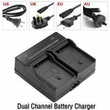 Dual Channel Battery Charger for Canon LP-E6 Battery EOS 5D Mark II III 70D 7D