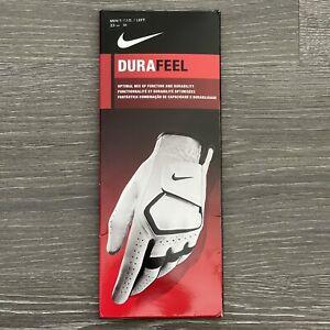 Nike Dura Feel Golf Glove Left Hand Size M 23cm Men's White Leather New