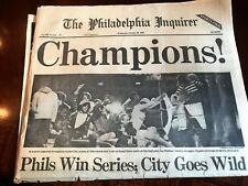 October 22, 1980 Philadelphia Phillies World Series Champs Paper -Phil. Inquirer