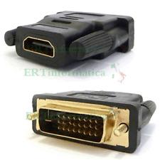 CONVERTITORE ADATTATORE HDMI TO DVI 24+1 HDMI FEMMINA DVI 24+1 MASCHIO