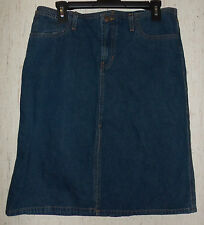 EXCELLENT WOMENS Abercrombie & Fitch DISTRESSED DARK BLUE JEAN SKIRT  SIZE 6