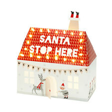 Santa Christmas Stop Here Night Light Box House Children's Room Decoration