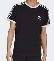 Adidas Originals Men's 3 Stripes Logo Tee Men's T-Shirt Black Size LARGE NWT