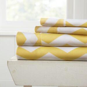 5 Designs - Premium Ultra Soft 4 Piece Bed Sheet Sets Extra Deep Pocket