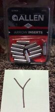 Aluminum 12-pack 9/32 in Od Inserts for Carbon Arrows Archery Accessories