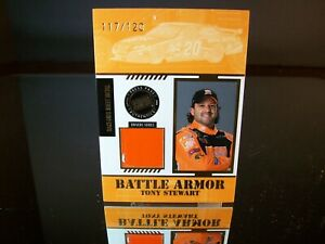 Tony Stewart Press Pass Battle Armor Race-Used Sheet Metal 2008 Card #BA-D 20
