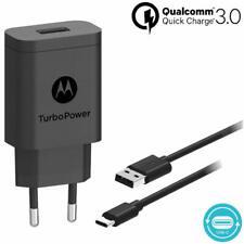 Motorola SC52 EURO 2 Pin Turbo Power 15+ QC 3.0 Mains Wall Charger Plug Only.