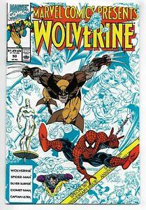 Marvel Comics Presents #50 Marvel Comics 1990 VF+ Wolverine Spider-Man+