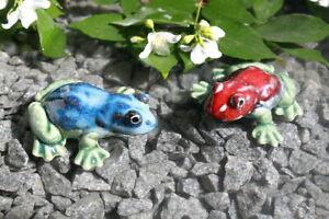 2er Set Schwimmtiere aus Keramik Frösche farbig versch. Ausführung