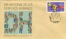 Chile 1992 FDC Dia Nacional de los Derechos Humanos