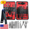 18 Pcs Stainless Steel Professional Manicure Pedicure Kit Nail Clippers Set Tool