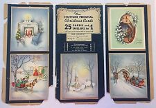 1945 THE NOEL LINE Wallace Brown CHRISTMAS CARD SALESMAN SAMPLE Antique