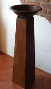 Rostige Metall Säule mit verschienden Schalen. Höhe 1,15m Gartensäule mit Pfiff