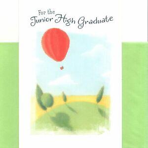 Congratulations Graduation Junior High Hot Air Balloon Hallmark Greeting Card