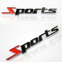 1x SPORTS LETTER 3D CHROME METAL CAR STICKER EMBLEM BADGE DECAL AUTO DECOR SUPRE