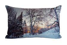 Kissen mit Füllung In 30 X 50 Cm Winterlandschaft