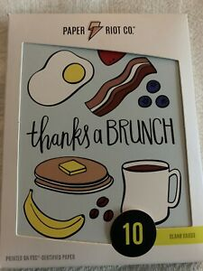 """2 Packs Of Paper Riot Blank Cards """"Thanks A Brunch"""" 20 count with Envelopes NEW"""