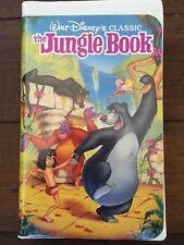 Rare Vintage The Jungle Book  (VHS)- Walt Disney's  Black Diamond Classic