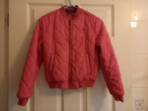 Girl's Ralph Lauren Polo Pink Quilted Bomber Jacket Size M (Age 8-10 Years)